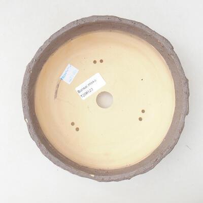 Bonsaischale aus Keramik 19 x 19 x 7 cm, Farbe Rissrot - 3