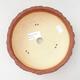 Bonsaischale aus Keramik 18 x 18 x 6 cm, Farbe grau-gelb - 3/3