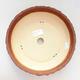 Bonsaischale aus Keramik 23,5 x 23,5 x 7 cm, Farbe grau-orange - 3/3