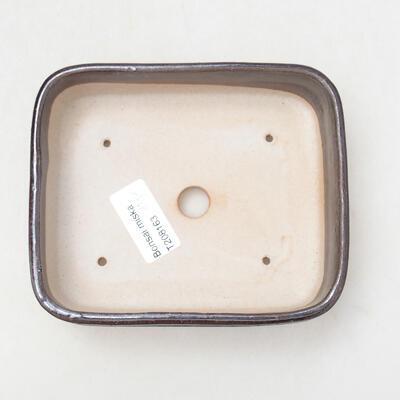 Bonsaischale aus Keramik 13 x 11 x 4,5 cm, metallfarben - 3
