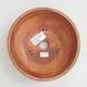 Keramik Bonsai Schüssel 16 x 16 x 5,5 cm, braun-gelbe Farbe - 3/4