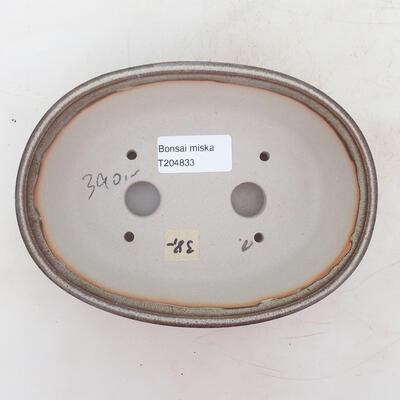 Bonsai-Schale 17 x 12 x 5 cm, Farbe braun-grau - 3