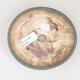 Keramische Bonsai-Schale 14 x 13 x 3,5 cm, braun-grüne Farbe - 3/3