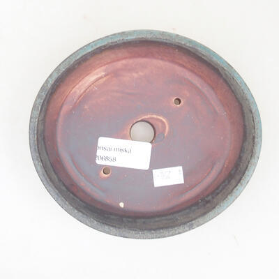 Keramische Bonsai-Schale 14 x 13 x 3,5 cm, graue Farbe - 3