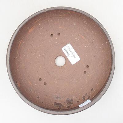 Keramische Bonsai-Schale 18,5 x 18,5 x 5 cm, braune Farbe - 3