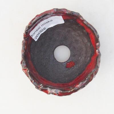 Keramikschale 7 x 7 x 5 cm, Farbe rot - 3
