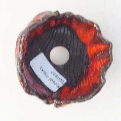 Keramikschale 7 x 7 x 7 cm, Farbe orange - 3