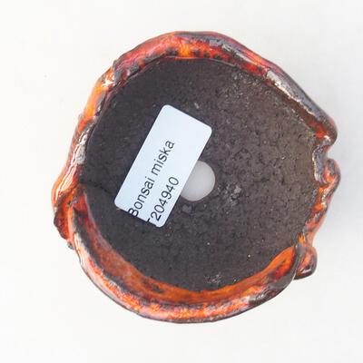 Keramikschale 7 x 7 x 5 cm, Farbe orange - 3