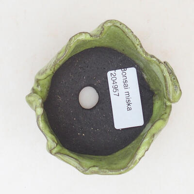 Keramikschale 7 x 7 x 5 cm, Farbe grün - 3