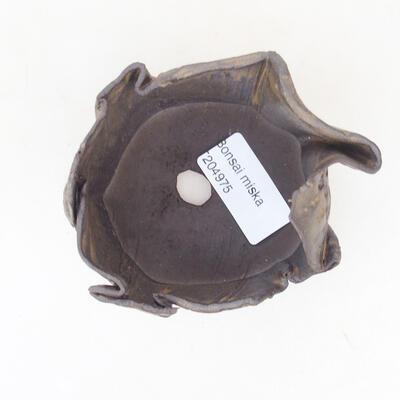 Keramikschale 7 x 7 x 5 cm, Farbe braun - 3