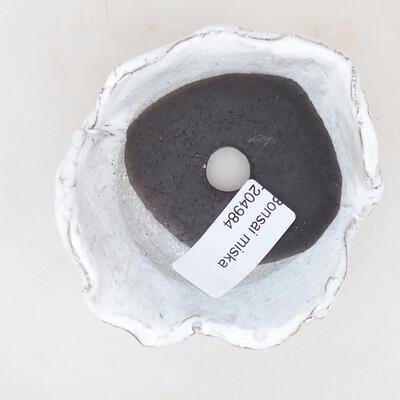 Keramikschale 8 x 7,5 x 5 cm, weiße Farbe - 3