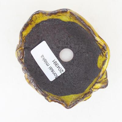 Keramikschale 8 x 6 x 4,5 cm, gelbe Farbe - 3