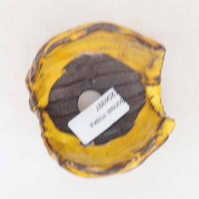 Keramikschale 7 x 7 x 6,5 cm, Farbe gelb - 3