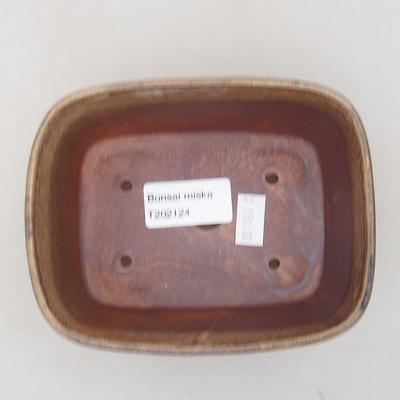 Keramische Bonsai-Schale 13 x 10 x 5,5 cm, braune Farbe - 3