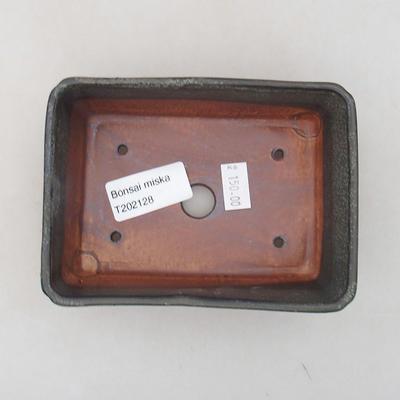 Keramische Bonsai-Schale 13 x 9 x 4,5 cm, graue Farbe - 3