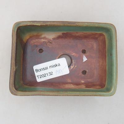 Keramik Bonsai Schüssel 10 x 7 x 4 cm, Farbe grün - 3