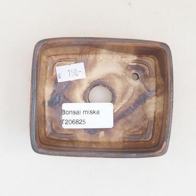 Keramische Bonsai-Schale 9,5 x 8 x 3,5 cm, braune Farbe - 3