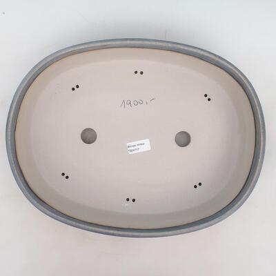 Bonsai-Schale 40 x 31 x 9 cm, graublaue Farbe - 3
