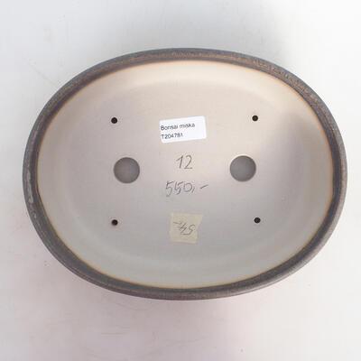 Bonsai-Schale 25 x 19 x 6,5 cm, grau-beige Farbe - 3