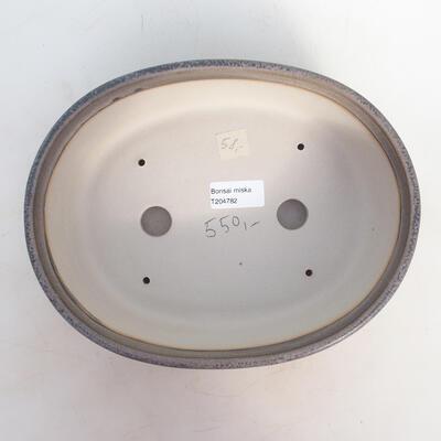 Bonsai-Schale 25 x 19,5 x 7,5 cm, grau-beige Farbe - 3