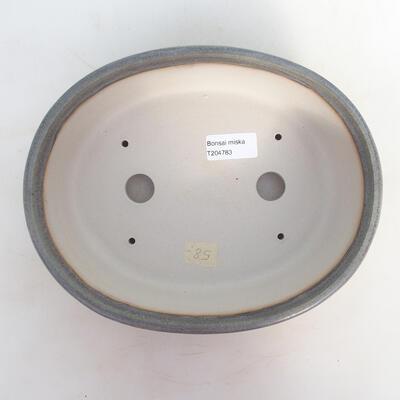 Bonsai-Schale 24 x 19,5 x 7,5 cm, grau-beige Farbe - 3