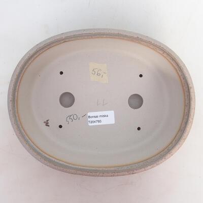 Bonsai-Schale 24 x 19 x 7,5 cm, grau-beige Farbe - 3