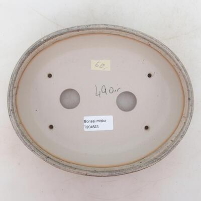 Bonsai-Schale 22 x 18 x 5,5 cm, grau-beige Farbe - 3