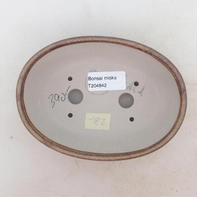 Bonsai-Schale 16 x 11 x 5 cm, Farbe braun - 3