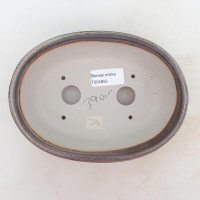 Bonsai-Schale 19 x 13,5 x 6 cm, Farbe braungrau - 3