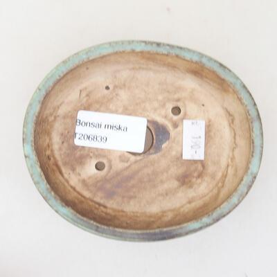 Keramische Bonsai-Schale 12 x 9,5 x 3,5 cm, Farbe grün - 3