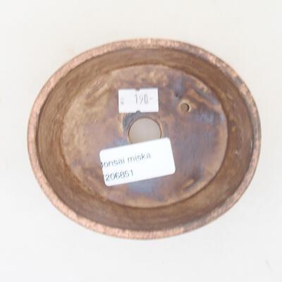 Keramische Bonsai-Schale 10,5 x 9 x 4,5 cm, Farbe rosa - 3