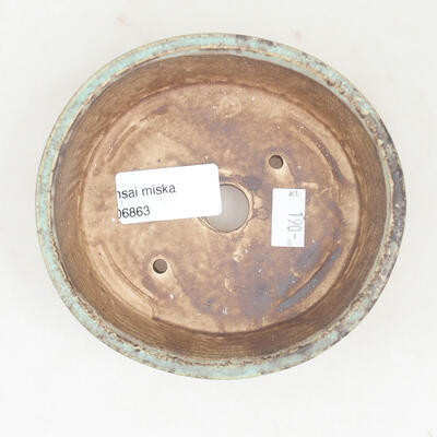 Keramische Bonsai-Schale 12 x 11 x 3 cm, Farbe grün - 3