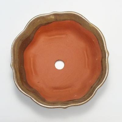 Bonsaischale aus Keramik H 06 - 14,5 x 14,5 x 4,5 cm - 3