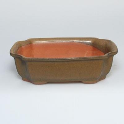 Bonsai-Schüssel + Untertasse H17 - Schüssel 14,5 x 10,5 x 4,5 cm, Untertasse 14,5 x 10 x 1 cm - 3