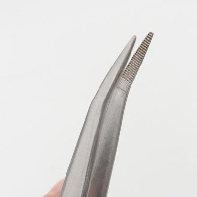Spachtel und gebogene Pinzette 22 cm - Edelstahl - 3
