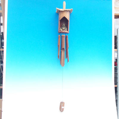 Bambus Windspiele Budha 120 cm - 3