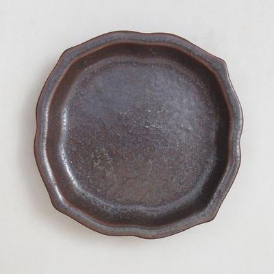 Bonsaischale + Tablett H95 - Schüssel 7 x 7 x 4,5 cm, Tablett 7 x 7 x 1 cm - 4