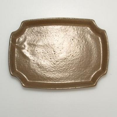 Bonsai-Schüssel + Untertasse H17 - Schüssel 14,5 x 10,5 x 4,5 cm, Untertasse 14,5 x 10 x 1 cm - 4
