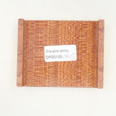 Holztisch unter dem Bonsai braun 10 x 8 x 1,5 cm - 5